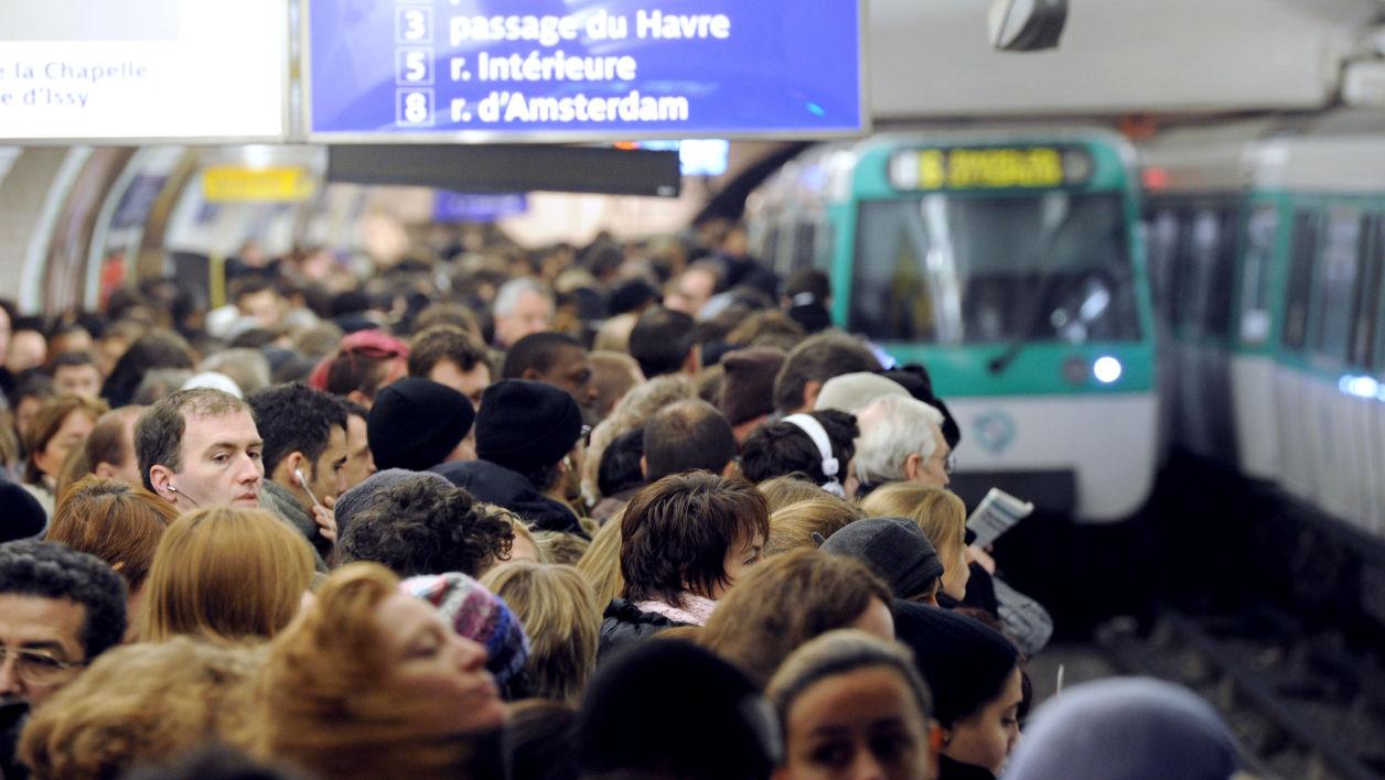 Metro in Paris during Rush hours