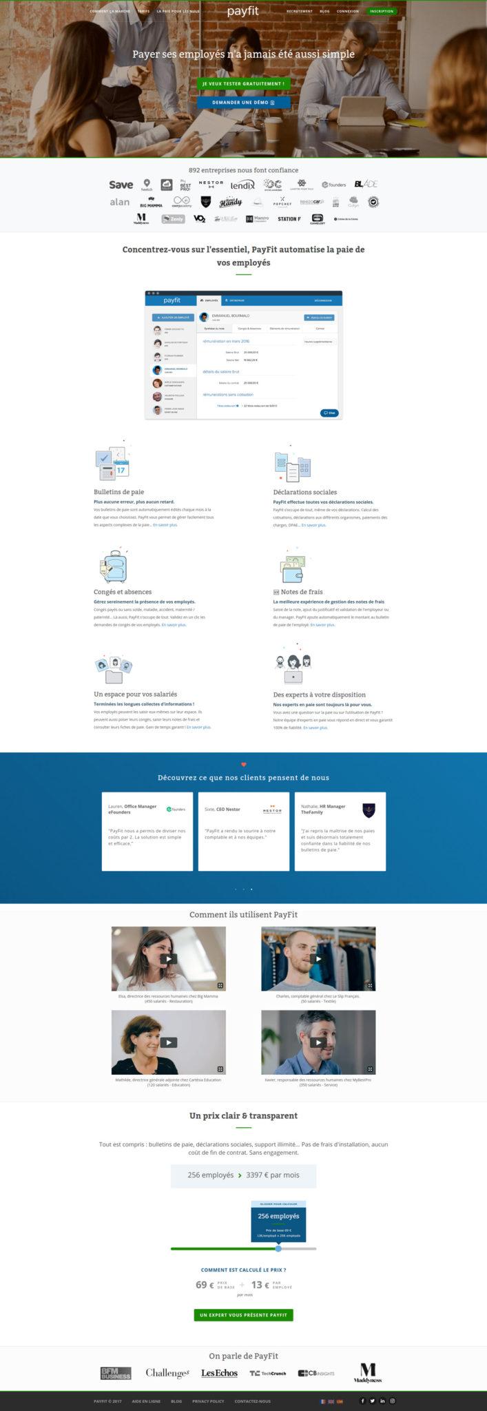 Landing Page - Payfit