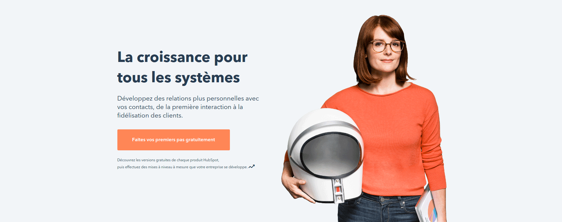Call to action sur la home page Hubspot