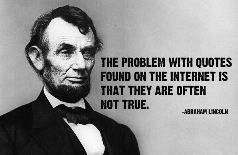 Abraham Lincoln Quote about internet quotes